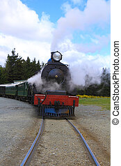 Steam train - Historic steam train in South Island, New...