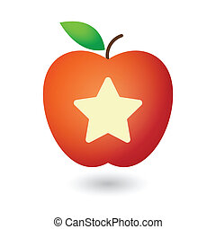 Apple with a star