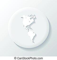 America 3D Paper Icon