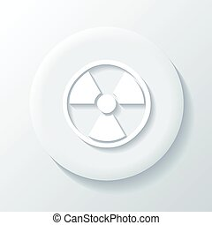 Nuclear 3D Paper Icon on a white background
