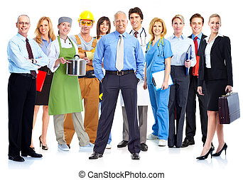 Business people group - Business people group isolated on...