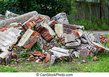 Pile of rubble - A pille of rubble from an old building