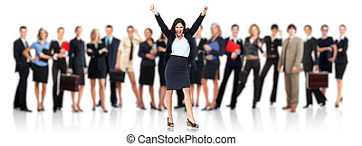 Happy Business people group. - Group of employee people....
