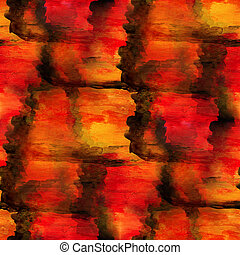 seamless texture red, brown watercolor background abstract paint pattern art