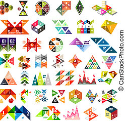 Set of infographic geometric templates - triangles
