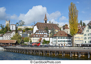 Lucerne, Switzerland - View of the center of Lucerne,...