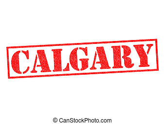 CALGARY Rubber Stamp over a white background