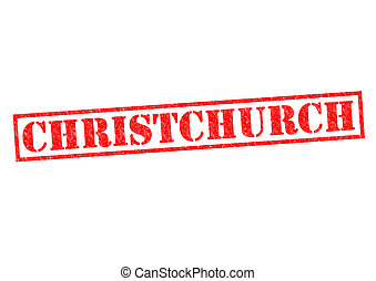 CHRISTCHURCH Rubber Stamp over a white background.