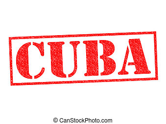 CUBA Rubber Stamp over a white background.
