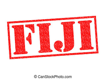 FIJI Rubber Stamp over a white background.