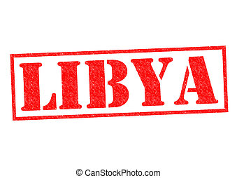 LIBYA Rubber Stamp over a white background.