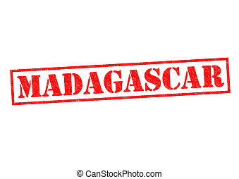 MADAGASCAR Rubber Stamp over a white background.