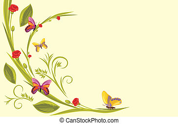 Decorative background with flowers