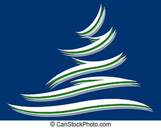Fir tree - Symbol of a fir tree on a blue background
