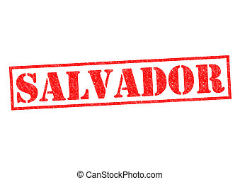 SALVADOR Rubber Stamp over a white background.