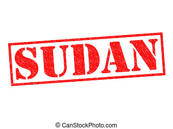 SUDAN Rubber Stamp over a white background