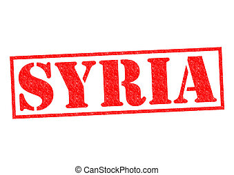 SYRIA Rubber Stamp over a white background