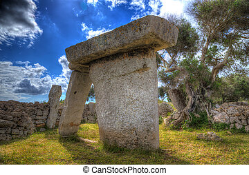 menorca Taules of Talati de Dalt prehistoric tables in...