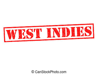 WEST INDIES Rubber Stamp over a white background