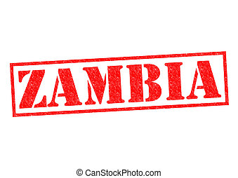 ZAMBIA Rubber Stamp over a white background.