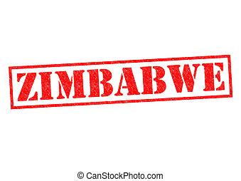 ZIMBABWE Rubber Stamp over a white background