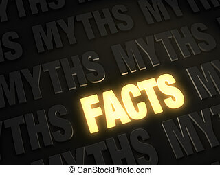 Electric Facts - Bold, glowing gold FACTS on a dark...