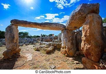 Taules of Menorca Torre de Gaumes Galmes at Balearics -...
