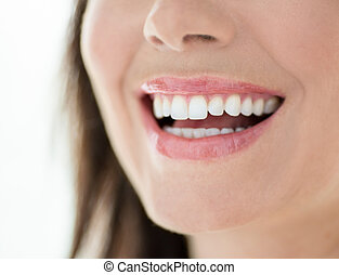 close up of a perfect smile - Horizontal confident smile...