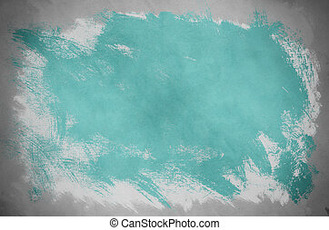 Abstract Turquoise Paint Background - Abstract painting on...