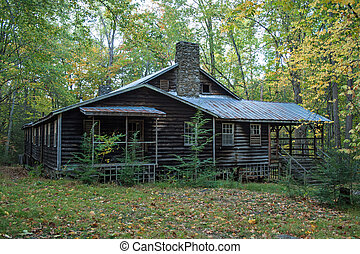 Old building - An old abandoned building in the Elkmont...