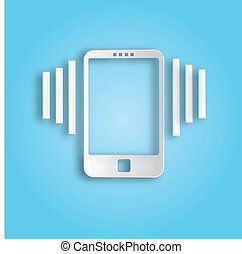 Ringing phone icon - Design business infographics Vector...