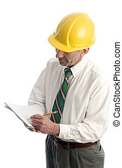 contractor writing estimate project - builder contractor...
