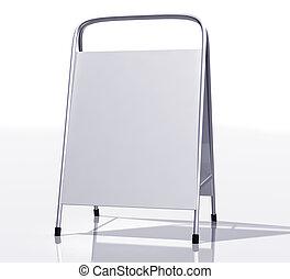 New sandwich board - Illustration of a modern blank sandwich...