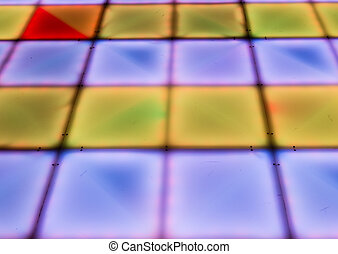 Dancefloor - colorful square shape lighting of disco dance...