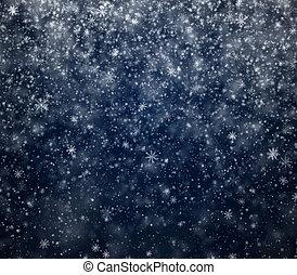 hiver, nouveau, glacial, fond, année