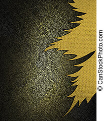 Dark background with a golden hue with abstract yellow...