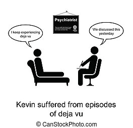 Psychotherapy Humour - Kevin and his poor memory cartoon...