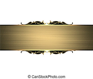 The plate with gold trim isolated on a white background -...