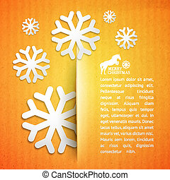 Winter post card. - Winter post card with snowflake. Vector...