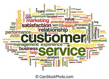 cliente, servicio, concepto, palabra, nube