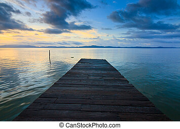 Jetty and sunset at Borneo