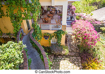 Beautiful floral small boutique hotel