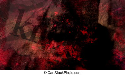 Horror Abstract non looping mixed media background