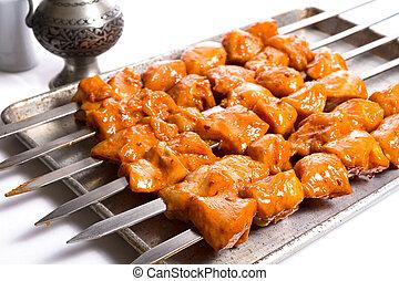 Seasoned Chicken Skewers Ready to Grill - Well seasoned...
