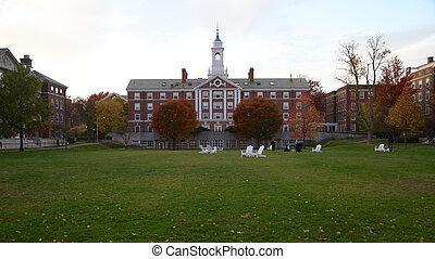 Harvard, universidad, Radcliffe, Cuadrángulo