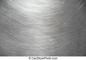 texture of aluminium pot with messy scratch and light reflex