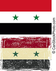 Syrian grunge flag Vector illustration