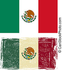 Mexican grunge flag Vector illustration