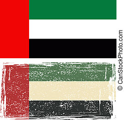 United Arab Emirates grunge flag Vector illustration