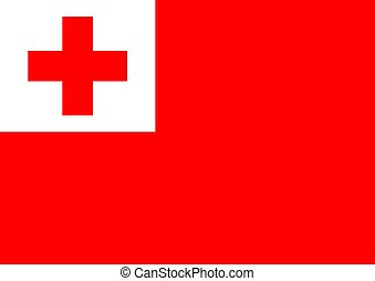 Tonga Flag - Illustrated Flag of Tonga